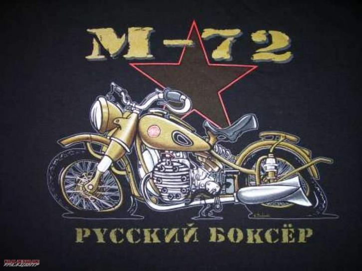 T-Shirt schwarz M72 BUSS, Größe L