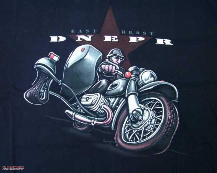 T-shirt Dnepr black BUSS, size 158