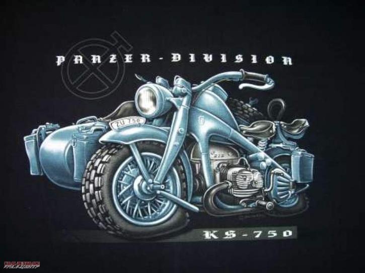 T-Shirt Panzer -Division BUSS, Größe XL