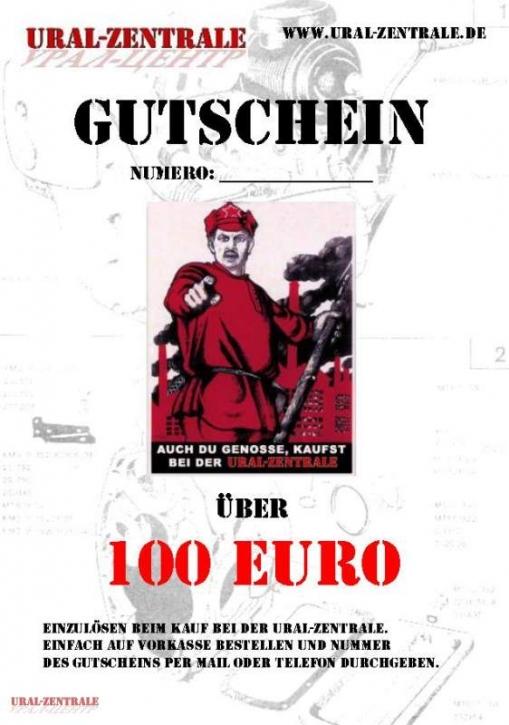 Geschenkgutschein 100 Euro Ural-Zentrale