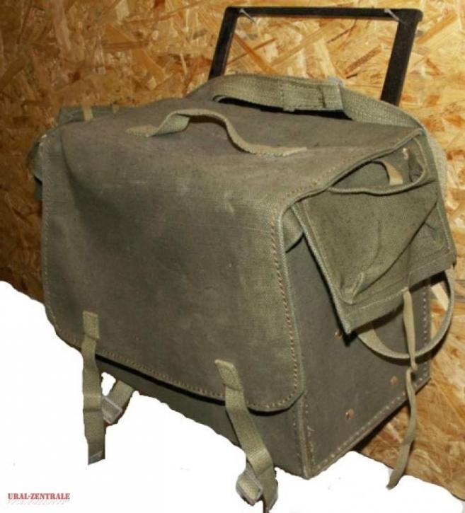 Satteltasche aus kräftigem Militär-Gewebe