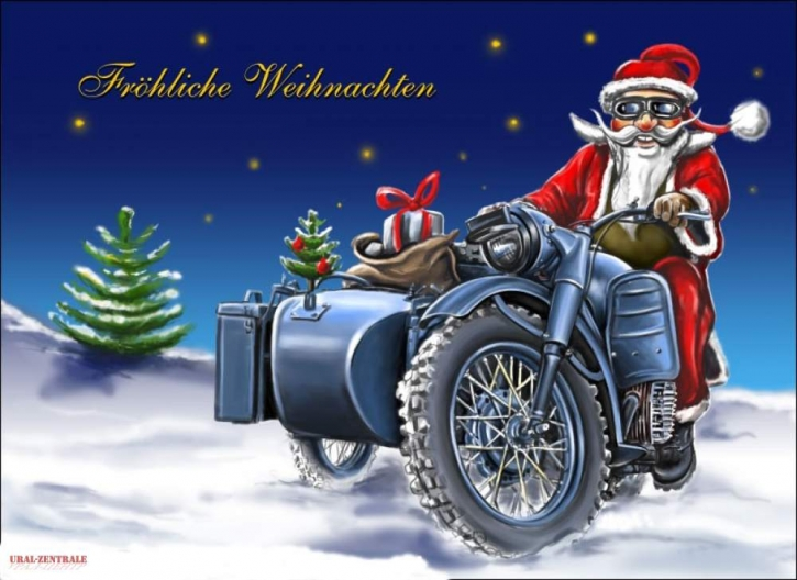 Weihnachts-Postkarte