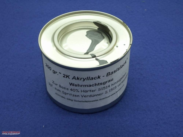 paint matt, Wehrmacht-grey  RAL 7021