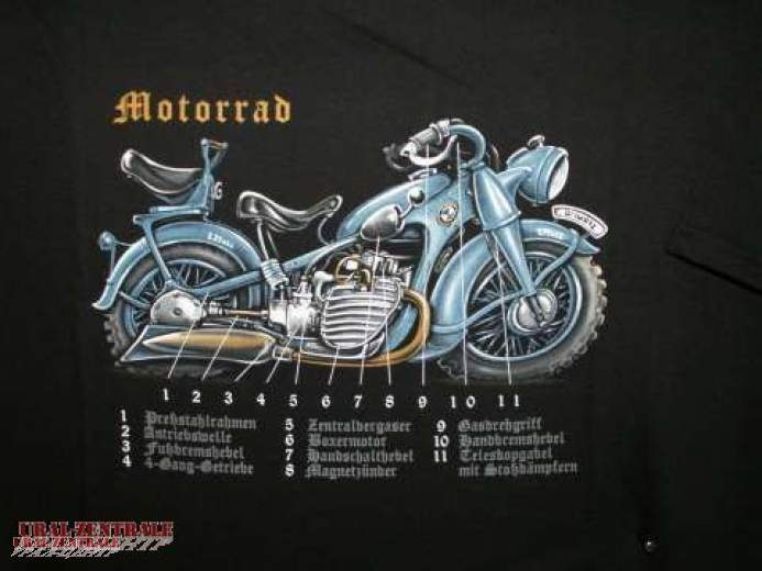 T-Shirt Motorrad BUSS, Größe XXXL