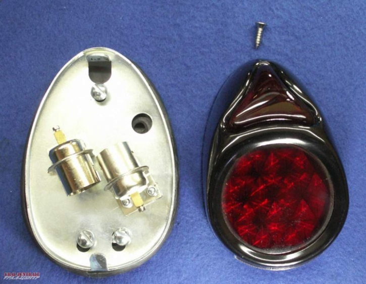 K750 tail light black, with license plate illumination