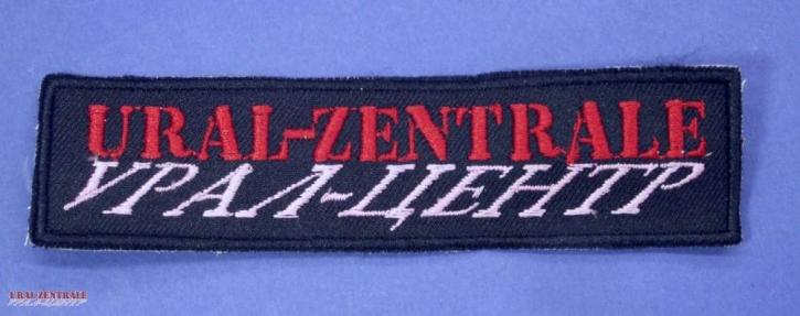 """Aufnäher """"Ural-Zentrale"""" Schwarz-Rot"""