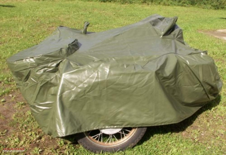 Garage, covering sheet for sidecar-outfits