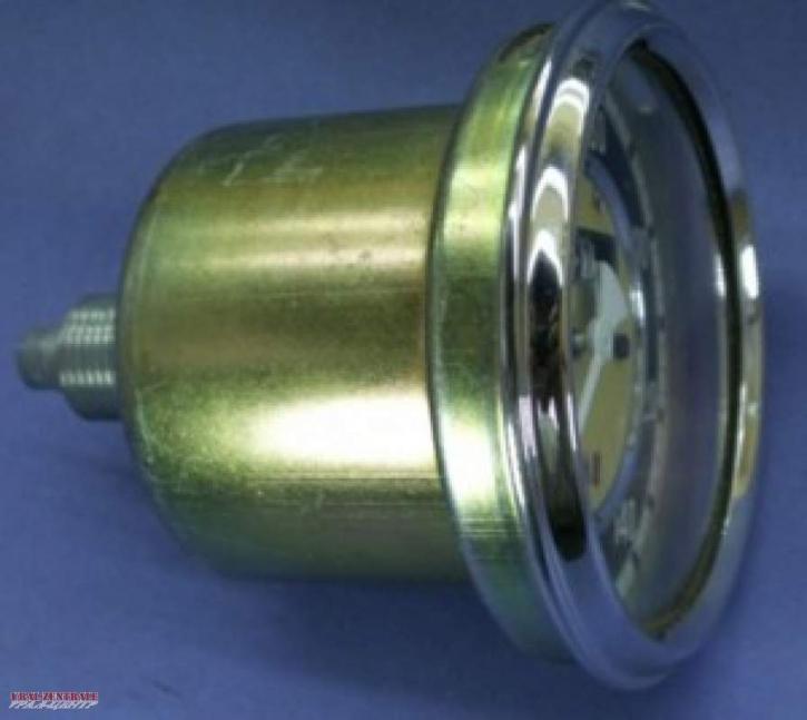 Speedometer with straight flange