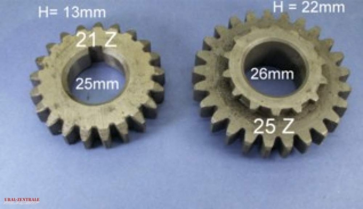 Gear set 4th gear with long gear ratio Ural / CJ