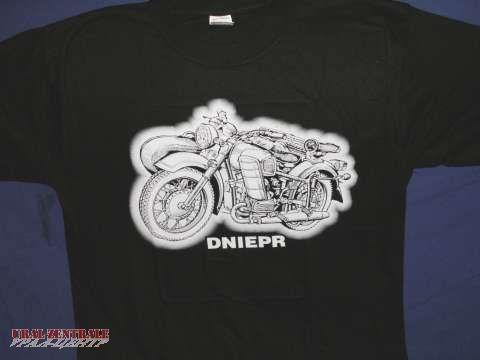 T-Shirt schwarz Dnepr, Größe XXXL