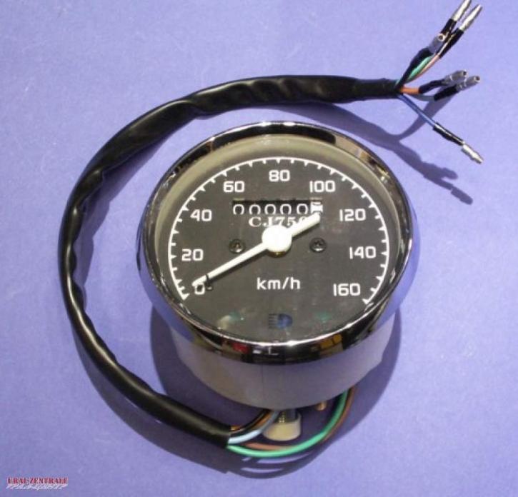Speedometer Dnepr/Ural/CJ, 80 mm pitch cycle diameter, straight