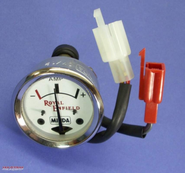 Ammeter white 42 mm housing