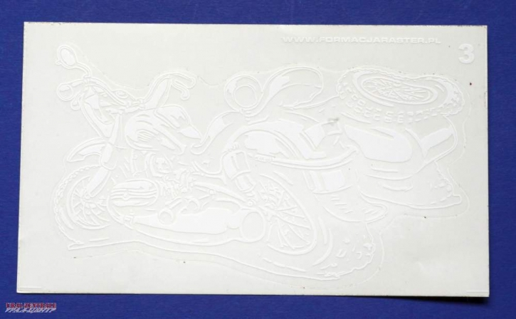 Ural caricature sticker white