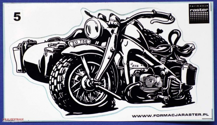 Zündapp KS 750 caricature sticker lucent