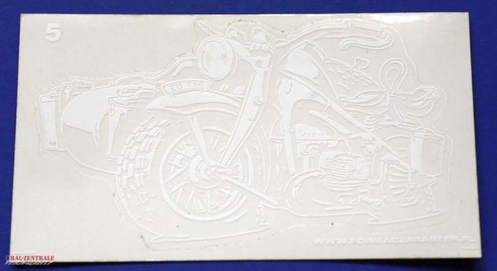 Zündapp KS750 Aufkleber Weiß