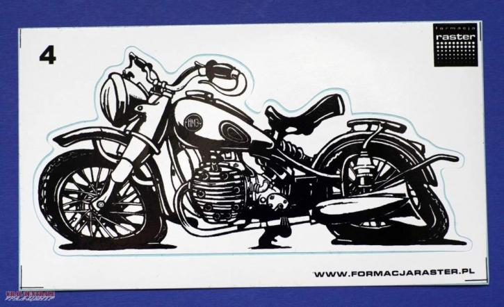 M72 caricature sticker black