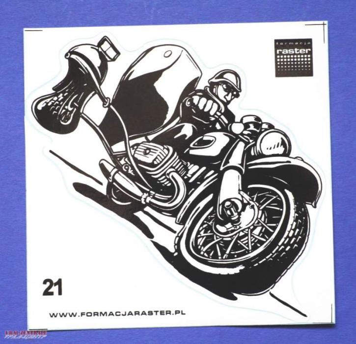 Dnepr caricature sticker black