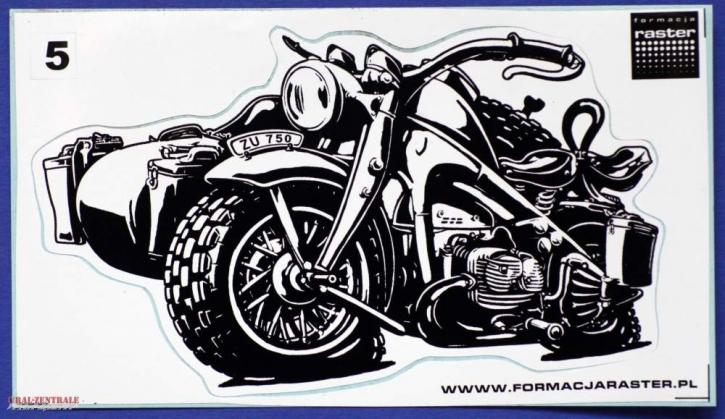 Zündapp KS 750 caricature sticker black