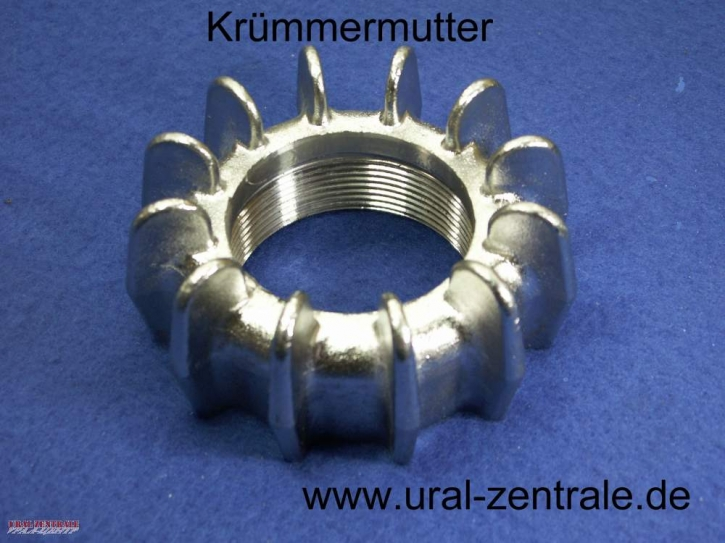 Exhaust downpipe flange crown nut stainless