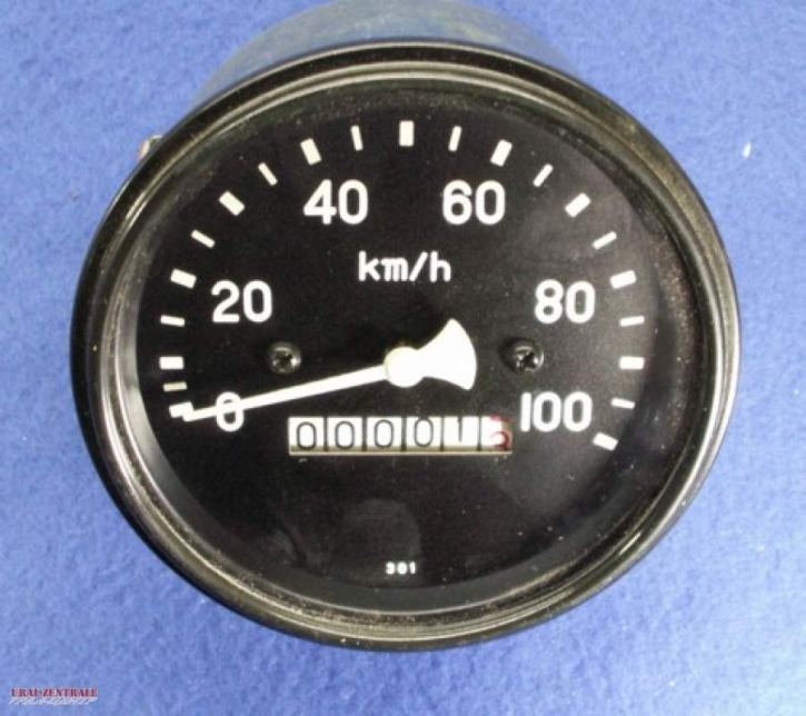 Speedometer 100 km/h  85 mm pitch cycle diameter, straight drive