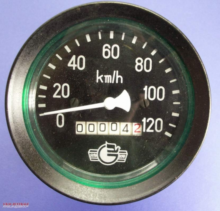 Speedometer 120 km/h  85 mm pitch cycle diameter, straight drive