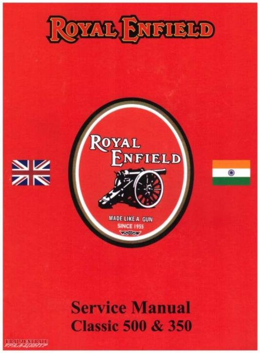 Repair instructions Royal Enfield Classic 350 & 500cc