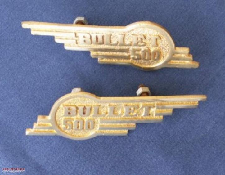 Bullet 500 Emblem Messing