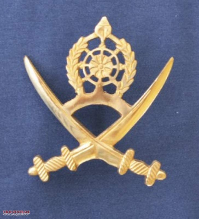 Big brass sabre emblem, one-piece