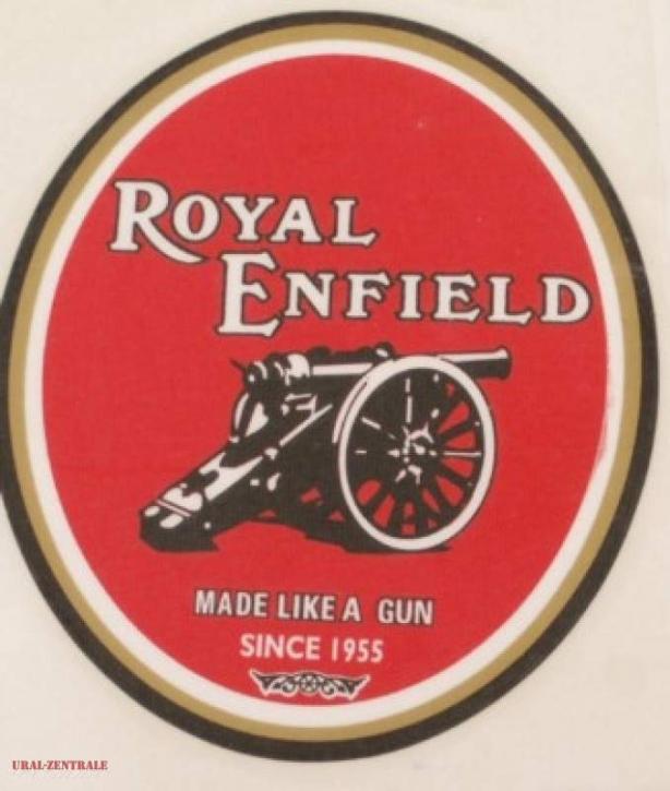 Sticker Royal Enfield oval 75 x 90mm