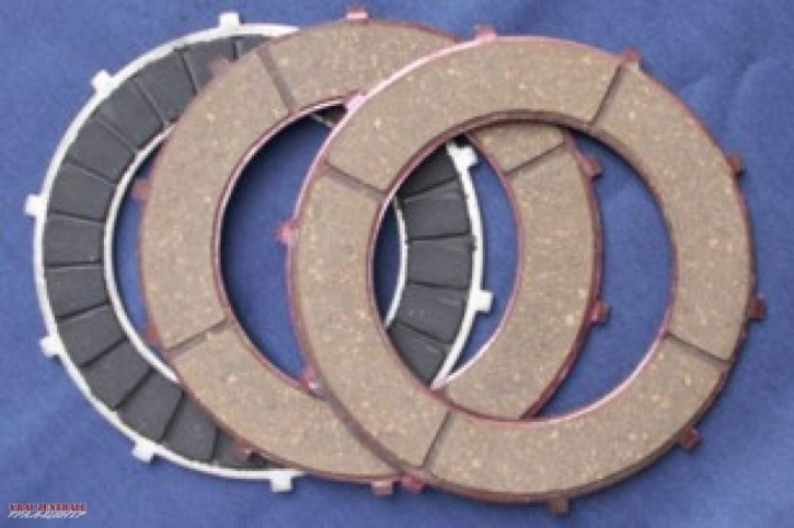 Clutch plate set, three-piece