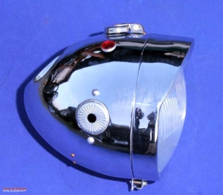 Scheinwerfer M72 verchromt, kurz, komplett