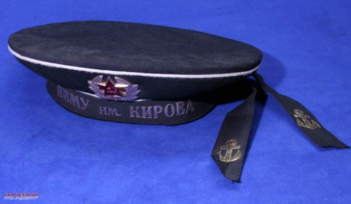 Sea cadet with With Cyrillic ideographs