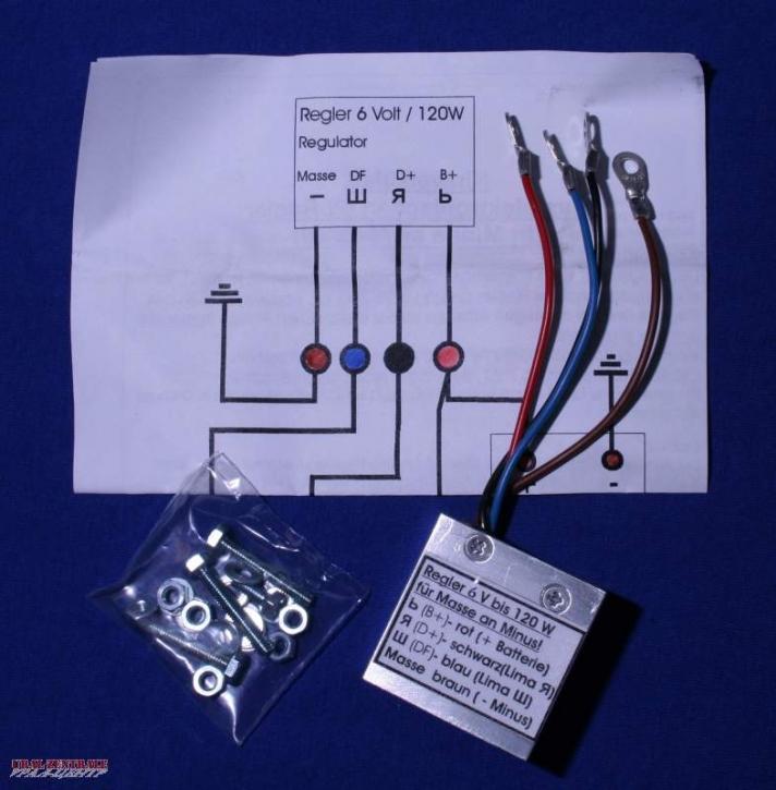 Regler 6V, elektronisch
