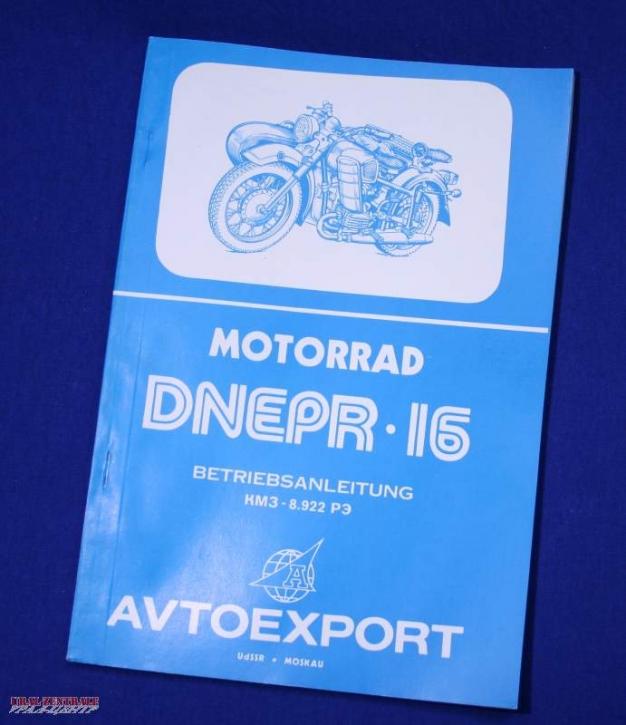 Operating manual Dnepr MT16 German
