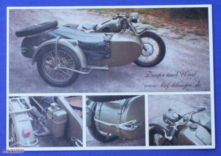 Postkarte M72 mit 4 Bildern
