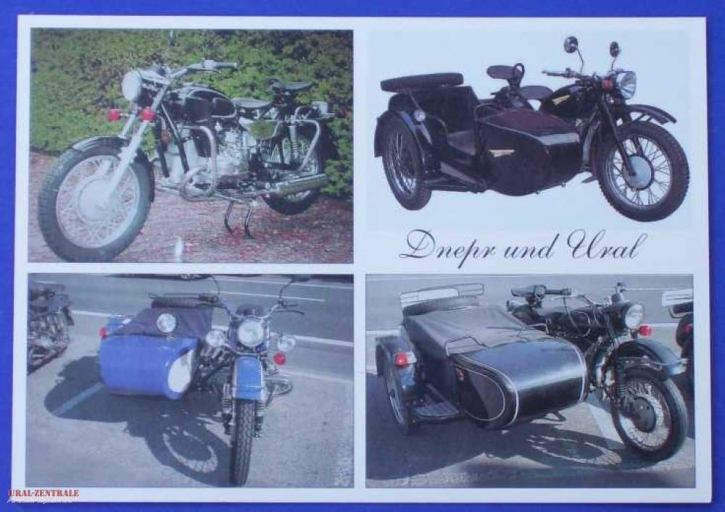Post card Dnepr and Ural