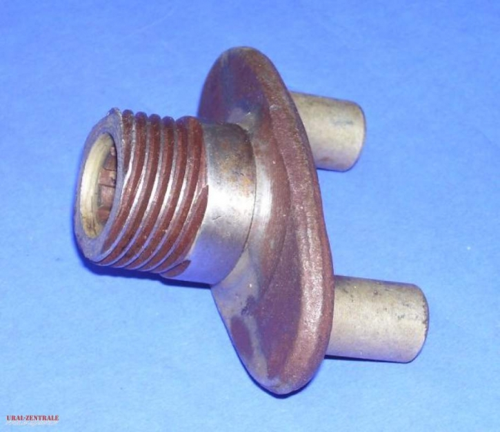 Drive flange with speedometer screw drive