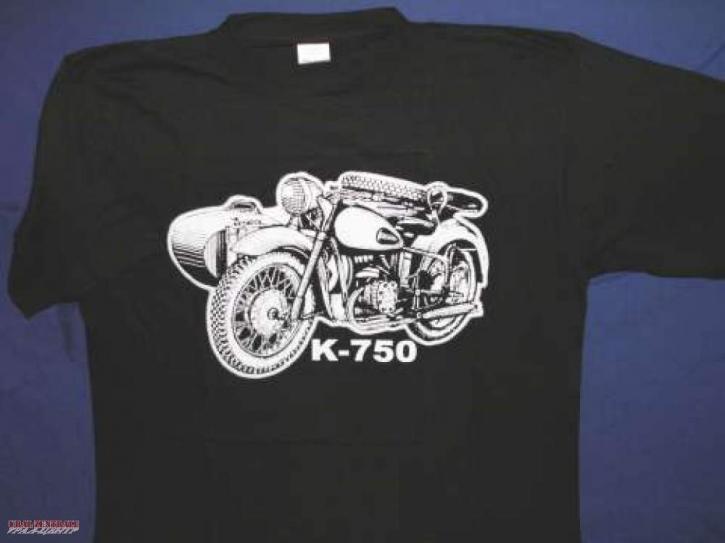 T-shirt black K 750, size S