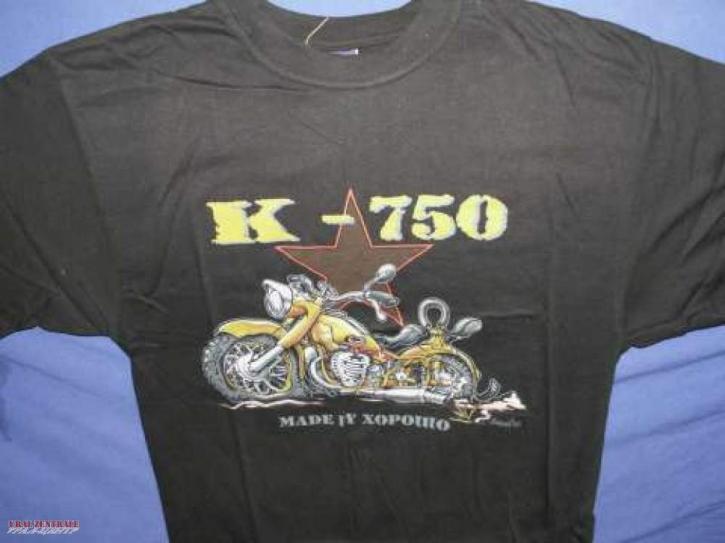 T-shirt K 750 black BUSS, size L