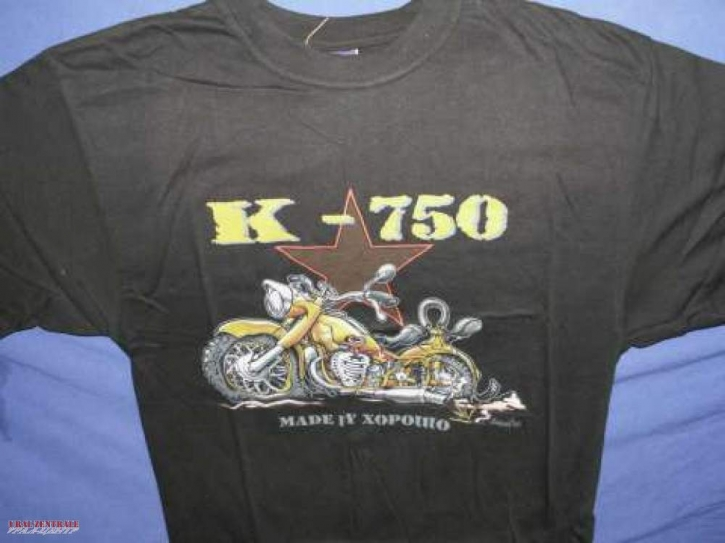 T-shirt K 750 black BUSS, size S