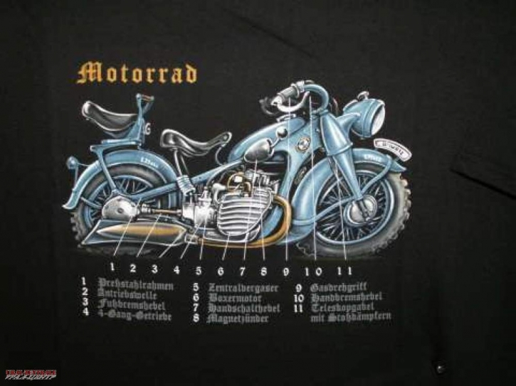 T-Shirt Motorrad BUSS, Größe L