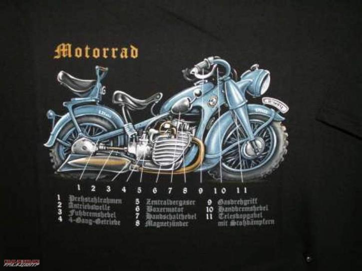 T-Shirt Motorrad BUSS, Größe XL