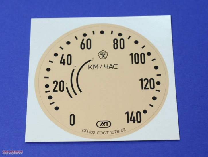 Speedometer dial