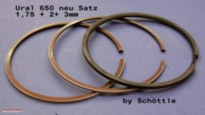 Piston ring set Schoettle for Ural 650and 750ccm HASTING