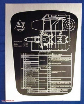 Lubrication chart Ural to stick, German