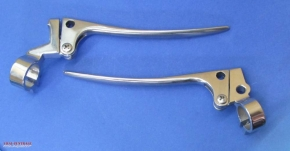 Clutch and brake lever set stainless steel, pair
