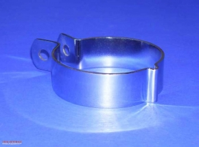 Exhaust clamp for »trumpet«, very good chromed