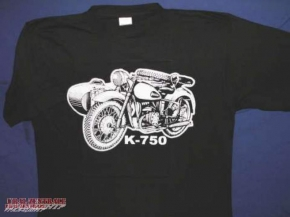 T-shirt black K 750, size L