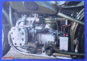 Post card M72 engine