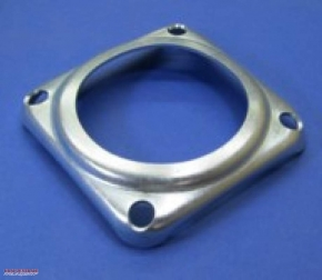 Rubber damper retaining plate with 4 holes for Ural sidecar